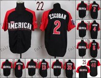american kansas - 2015 All Star American Kansas City Royals Alcides Escobar Baseball Jerseys Cheap Authentic Stitched Size