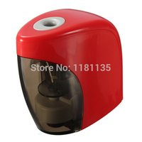 Wholesale High Quality Automatic Electric Touch Switch Pencil Sharpener work with AA For Home Office School Desktop Stationery Supplies order lt no