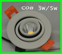 Wholesale 360 degree adjustable led downlight COB W Dimmable led recessed ceiling lamps ac85 V for indoor decoration
