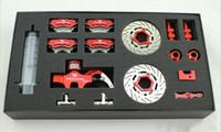 baja brakes - CNC Alloy Wheel Hydraulic Disc Brake For scale BAJA B T SC Red