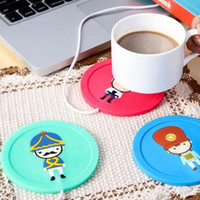 Wholesale Newfangled USB Heated Cup Mats Silica Gel Tea Saucers Home And Ultra Assistant Heat Insulation Cup Mat Cup Warmers Dish