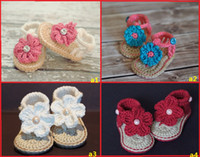 Wholesale 2015 cute little flowers soft bottom baby summer barefoot sandals non slip months newborn indoor toddler shoes pair C1