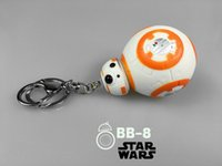 Wholesale Star Wars BB8 The Force Awakens Droid BB Action Figure toys cm lovely Robot bb8 PVC keychain pendant gift