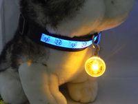 Wholesale pet LED pendant Bright Dog Pet LED Night Safety Flash Light for Collar Push Button Switch