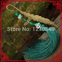 Wholesale Ethnic jewelry long tassel vintage bookmark accessories antique brass traditional vinatge cloisonne bookmark pin