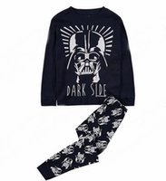 Wholesale Star Wars clothes set Cartoon outfits sleepwear baby Boys Autumn Winter Pajamas Sets kids clothing sets