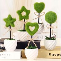 Cheap 1set mini Cute Mini vase with Artificial Trees bonsai home decoration flower Baby shower gift Party wedding decor flower