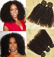 Cheap Unprocessed Brazilian Peruvian Indian Malaysiay Human Remy Virgin Hair Kinky Curly Weft Hair Weave Hair Extensions Natural Color 3pcs