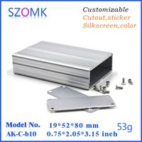 aluminum extrusion manufacturers - 4 small diy aluminum electronics box for PCB junction housing mm aluminum extrusion manufacturer project enclosure AK C B10