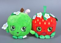 apple retail shop - Retail Fruit Hot Toys Cartoon Movies TV Shopping Stuffed Dolls One Piece Anime Kawaii Strawberry Apple Sweet Cute Plush Toy Kids Gift