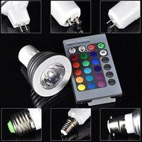 Proyector GU10 E27 E14 MR16 de la luz del punto de la lámpara de la alta tecnología LED del color de 3W RGB LED teledirigido