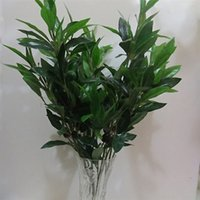 artificial olive branch - Silk artificial olive branch leaves plastic plant wall mounted decoration for wedding