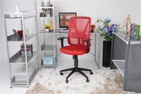 mesh chair office chair - US Stock Ergonomically Office Task Chair with T Arms with Mesh Fabric Pads commercial furniture RED simple office chair