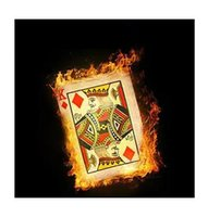 magic card tricks - Flash paper bicycle card sheets pack Magic Trick Fire Magic Accessories Close up Satge Magic props