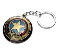 america accessories leading - The Avengers Captain America Shield Alloy Pendant Keychains Key Ring Keychain Favors newest animation cartoon Fashion Accessories party gift