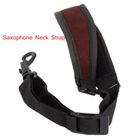 Wholesale Professional Saxophone Sax Neck Strap Cotton Padded Adjustable Design with Hook Clasp Saxophone Accessories