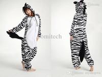 Wholesale New Zebra Pajamas Animal Onesie Cosplay Costume Pyjamas Sleepwear Sleepsuit Unisex Adult One Piece