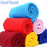 magic towel - 2015 SIS Cool Towel Magic Cold Ice Towel Summer Sports Fitness Instant Cooling Towels Enduring Reusable for Children Adult Factory Price