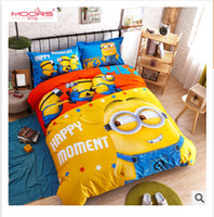 Wholesale 2015 baby bedding set Despicable Me bed seting cotton Mickey minnie kids cartoon bedding set for children kids bedding R00913