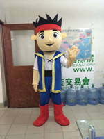jake and the neverland pirates - New Arrival Jake and the Neverland Pirates Jake Mascot Costume High Quality Cartoon Character Adult Size