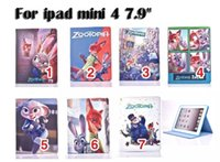 Wholesale For ipad mini case new Cartoon Zootopia Stand Leather Flip Case For ipad mini Cover stylus