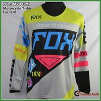 al por mayor camisetas de bicicleta xxl-Motocicleta caliente de la venta 2015 que compite con el jersey off-road Jersey de Jersey de la manga de Jersey de la manga que completa un ciclo para los hombres M-L-XL-XXL Envío libre