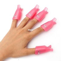 Wholesale 10pcs Plastic Nail Art Soak Off Cap Clip UV Gel Polish Remover Wrap Tool Gofuly