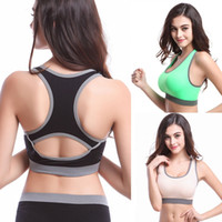 fitness tank tops - Women Tank Seamless Racerback Sports Tank Top Fitness Padded Stretch Workout Tank For Freeshipping