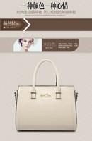 designer leather handbags - 2015 Hot Women Genuine Leather Tote Bag Temperament Lady Solid Color Leather Shoulder Bag Cross Body Simple Fashion Designer Handbags