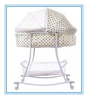 Wholesale New COTS Baby Rocking Bed Distribution of Mosquito Nets Mattress Iron Baby Cradle Swing Suitable For Years Kids