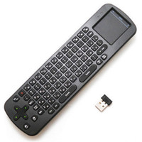 Wholesale New RC12 Air Mouse GHz Wireless QWERTY Keyboard with Touchpad Touch Panel Remote Control for Tablet PC Android TV Box HTPC Smart TV