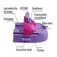 nail salon equipment - Professional nail stamp machine nail printer stamping tool beauty salon equipment for nail with Pattern Palettes