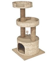Wholesale natural cattail leaf cat scratching tree cat tree cat toy pet product cat house