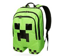 Wholesale 2015 Minecraft Backpack Game My World Children School Bags Kids Boys Mochila Double Shoulder Bag Block Coolie Strange Free DHL to USA