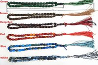 Wholesale Islamic Prayer Beads Synthetic Quartz Beads Muslim Tasbih Allah Prayer Rosary Approx mm with Colors