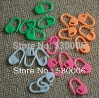 Wholesale Multicolors Plastic Needles Knitting Crotchet Locking Stitch Markers Holder Clip Carfts Helper Sewing Accessory