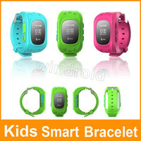 android communicator - Kids Smart Bracelet WristWatch F13 Smartband Digital Watch GPS Position Bidirectional Call SOS Communicator IOS Android Phone retail box