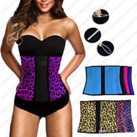 Wholesale Women s Waist Training Belt Underust Waist Cincher Rubber corset Latex Bustier Body Shaper XS XL Colors