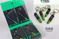 Wholesale 2015 TURBO TEIN JDM Car DAMPER Keychain Key Rings Interior Accessories Pendant Keyholder Flex Coilover Turbo Tuning Carabiner Keyring