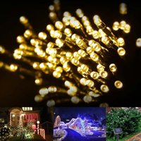 Wholesale Led Strings Solar Fairy Lights ft Waterproof LEDs V Warm White Outdoor Decorative String Lights for Christmas Wedding Party