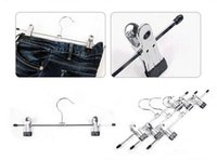 Wholesale high grade CM metal material garments clothes pants skirt hangers drying racks with flexible clips