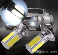 Wholesale H7 W Xenon LED COB Fog Light Bulb Headling lights Lamp for Auto Cars H4 H8 H11 Driving Light