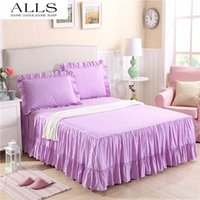 bedskirts for queen beds - korean cotton bedspreads to bed skirt bed sheet twin full queen size purple white yellow ruffle bedskirts for hotel