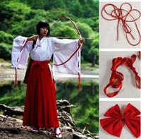 Wholesale Hot Sale Inuyasha Kikyo Kimono Cosplay Costume Full Set Custom made Halloween carnival Anime cosplay costume