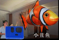 Wholesale Air Swimmers Flying Shark Air Swimmer Flying Fish Shark Clownfish Extreme Model Radio Contral DHL Free