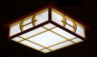 Wholesale Japanese Ceiling Lights Solid Wood Japanese Style Lamp Room Lights Tatami Lamp Sheepskin Lamp Ceiling Light Design cm Christmas Lights