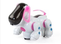 battery operated swing - Interactive Electronic Toys Eletronic Walking Robot Dog Puppy Toy Music Shine Pet Ear Rotating Tail Swing Toy for children kids