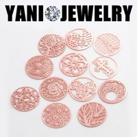 Wholesale 10pcs Hot Sale Rose Gold mm Alloy Floating Window Charms Plates For mm Glass Living Memory Locket