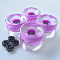 Wholesale Set Pro X45mm Pu Rubber Material Led Light Up Wheels for inch Skateboard Longboard Cruiser Skating Board
