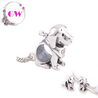Wholesale Jack Russell Terrier silver dog beads free ship Animals fit Bangle Bracelets No95 X212